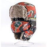 Yooci Uschanka Bomber Hüte Für Jungen Und Mädchen Winter Kinder Outdoor Baumwolle Dicke Kappen...