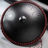 Handpan Drum Instrument In D-Moll 9 Noten (d3 A Bb C D E F G A) 16 Zoll Stahl Hand Drum mit Soft...