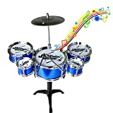 JIASHU Mini Drum Desktop Neuheitenset, Best Choice Products 11-teiliges Starter-Set für Kinder mit...