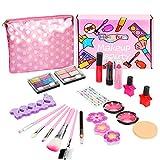 Herefun Makeup Set für Kinder, Kinderschminke Set Mädchen, 21 Stück Waschbar Kinderschminke Set...