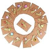 (17.5CM x 11CM) 16 Stück Grußkarte Dankskarten Einladungskarte Geschenk Umschlag Retro Kraftpapier...
