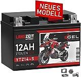 LANGZEIT YTZ14-S Motorradbatterie GEL 12V 12Ah 270A/EN YTZ14-4 GTZ14-4 GEL Batterie 12V doppelte...