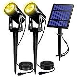 T-SUN Solar Gartenleuchte, 2 Stück Solarstrahler Solarlampen für Garten, IP65 Wasserdicht LED...