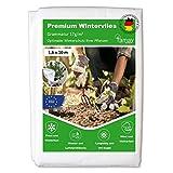 Tamay Wintervlies Premium (1,6 x10m) 17g/m2 Hochwertiges Kälte und Frostschutz Vlies für Pflanzen...