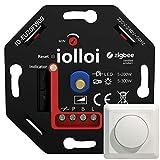 iolloi Zigbee-LED-Dimmer 5-200 W,230V Phasenabschnitt-Drehdimmer für Dimmbare LED und Halogen...