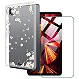 LKJMY für iPad Pro 2021 12.90 Tabletteyhülle + Gehärtetes Glas Schutzfolie,Durchsichtig...