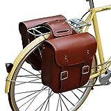 SPLLEADER Retro Fahrradträger Tasche Leder Gepäckträger Fahrradtaschen Robuste...