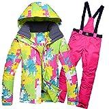AHJSN Winter Skianzug Damen Marken Ski Jacke und Hose für Damen Warm Winddicht Winddicht Ski- und...