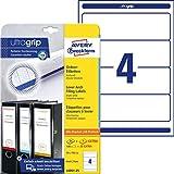 AVERY Zweckform L6061-25 Ordnerrcken Etiketten (mit ultragrip, 59 x 192 mm auf DIN A4, breit/kurz,...