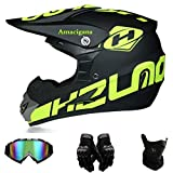 Amacigana® Motocross Helme Downhill Helme Motorrad Crosshelme & Endurohelme Jugend Kinder Offroad...