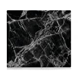 Zeller 26315 Herdabdeckplatte, Metall, Marmor schwarz 56 x 50 x 1 cm