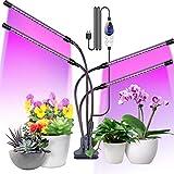 Aerb Pflanzenlampe LED, 4 Heads 80LEDs Pflanzenlicht Vollspektrum mit Zeitschaltuhr 4 Dauer, 3...