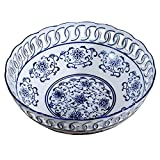 B-fengliu Fruchtschalen, blau und wei Porzellan Obstschale Teestube Wohnzimmer Esszimmer...