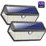 Solarleuchte für Außen,【Wasserdichte Langlebige Version】Trswyop 128LED Solarlampen für Außen...