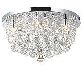 Led Deckenlampe Glas Kristall Strass Kronleuchter Lüster Beleuchtung Deckenleuchte Lampe Leuchte...