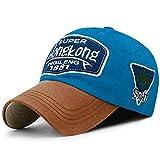 WAZHX Herren Baseball Cap Damen Mode Hut Passend Cap Letter Stickerei Dad Hat Verstellbar SkyBlue