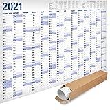 Yohmoe®-Papier XXL Jahresplaner 2021 Wandkalender (70x100 cm) GEROLLT in Poster Größe....