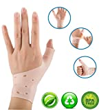 【Upgrade】 Atmungsaktive Gel-Handgelenk- und Daumenbandage für rechte und linke Hand, lindert...