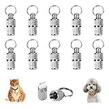 HO2NLE 10 Stück Adressanhänger Hunde Katze Hundemarke Tiermarke mit Schlüsselring Hundeanhänger...