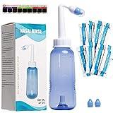 HOUSON Nasendusche Set 300ml mit 20x Nasenspülsalz und Thermometer-Aufkleber für Erwachsene und...