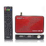 Koqit U2 Satelliten-Receiver DVB S2 HD mit IPTV M3U und WLAN-Antenne