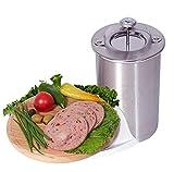 JasCherry Edelstahl Druck Schinken Kocher Schinkenpresse für Gesunde Wurst Hausgemachte Fleisch...