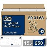 Tork Zickzack Papierhandtcher Advanced 290163 - H3 Falthandtcher fr Papierhandtuchspender - saugfhig...