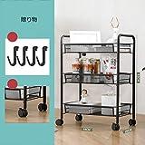 Küchenwagenwagen mit Rollen Küchenwagen Büro Wagen montiert einfache Lagerung Wagen Typ fest...
