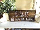 LINDAI Sei still und wisse, DASS ich Gott Bin, Holzzeichen, Holzzeichen, benutzerdefiniertes Zeichen