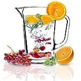 KADAX Krug, Glaskanne, Glaskrug aus robustem Glas, Wasserkrug mit Auslauf und handlichem Griff,...