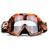 Qiilu Motorrad Goggle Motocross Wind Staubschutz Fliegerbrille Snowboardbrille Schneebrille...