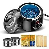 AEVO Warmwachs Set - Elektrischer Wachswrmer fr Haarentfernung zuhause [LED Anzeige] [2...