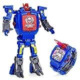 YuWei Smart Transformers Spielzeug Uhren, Kinder 2 in 1 Elektronisch Roboter Spielzeuguhr Deformiert...