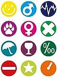 Fackelmann Glasmarker, wiederverwendbare Glasmarkierer, Markierungen fr Glser und Flaschen (Farbe:...