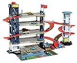 Dickie Toys 203749008 Parking Garage, Parkgarage, Spielset, Parkhaus, 4 Etagen, Aufzug, 4...
