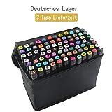 tongfushop 80 Farbige Graffiti Stift Fettige Mark Farben Marker Set,Twin Tip Textmarker Graffiti...
