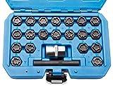 otgerlensker products 22 TLG Audi Felgenschloss Radbolzen Knacker Demontage Werkzeug Schlüssel Set