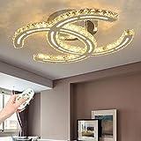 LED Deckenlampe Moderne Kristall Deckenleuchte Dimmbare Wohnzimmer Lampe Dekoration Schlafzimmer...