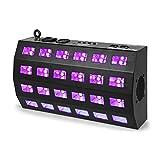 Beamz BUV463 LED UV Strobe 24x3W DMX/Standalone 7 DMX-Kanäle 85W schwarz