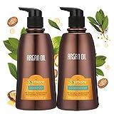Skymore Arganöl Shampoo und Conditioner Set (2x350ml), Haarpflege Haarwachstum Beschleunigen, Haar...