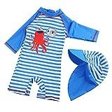 G-Kids Kinder Jungen Badeanzug Bademode Einteiler UPF 50+ UV Schützend Schwimmanzug mit Sonnenhut...
