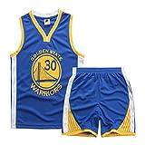 Jungen und Mädchen Basketball Trikots - Stephen Curry # 30 Kinder Basketball Shirt Weste Top Sommer...