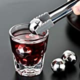 Beste Whiskeykühlsteine Edelstahl EIS Gefroren Eiswein Bar Whiskey Metall Stein Keine Eiskaltes...
