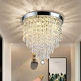 DLLT Modern Kronleuchter Kristall K9 mit Elegantem Design, Rund Acryl, 4 Lampenfassungen, Schöne...