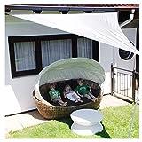 ZGQSW 4 × 4 × 4 m Schatten Sonnensegel, Garten Markisen, Carports Terrasse Sonnensegel Camping,...