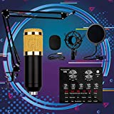 SSYS USB Mikrofon,2 Kanal DJ Mixer Mischpult,DJ-Mixer Mit Integriertem Audio Interface, 2-Band EQ,...