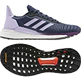 adidas Damen Solar Glide 19 W Laufschuh, Tech Indigo/FTWR White/Purple Tint, 44 2/3 EU