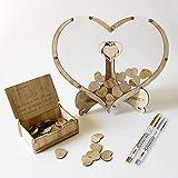 Hölzernes Hochzeitsgästebuch-Holz Retro Kreatives Zeichen in DIY Personalisierte...