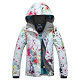 APTRO Damen Skijacke warm Jacke gefüttert Winter Jacke Outdoor Funktionsjacke Regenjacke Weiß 9896...