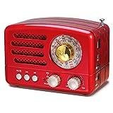 PRUNUS J-160 AM/FM/SW Kleines Retro Radio mit Bluetooth, Nostalgie Radio Tragbares mit 1800mAh...